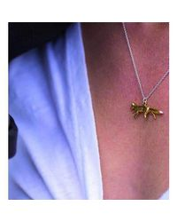 Hiho Silver - Metallic Sterling Silver & 22kt Gold Alex Monroe Prowling Fox Necklace - Lyst