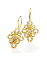 Brigitte Adolph Jewellery Design - Metallic Miss Medea Yellow Gold Earrings - Lyst