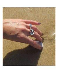 deVos Jewellery - Multicolor Side Anchor Ring - Lyst