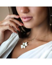 M's Gems by Mamta Valrani - Multicolor Spring Blossom Chain With White Floral Pendant - Lyst
