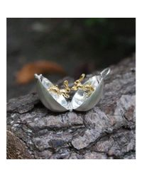 By Emily | Metallic Silver And Gold Boxing Hare Locket | Lyst