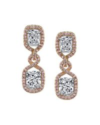 Harry Kotlar - Metallic Pretty In Pink Arabesque Kotlar Cushion Drop Earrings - Lyst