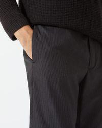 Jigsaw Gray Italian Wool Cotton Single Pleated Trousers for men
