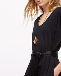 Jigsaw - Brown Corrie Williamson Triangle Necklace - Lyst