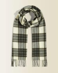 Jigsaw Green Check Scarf for men
