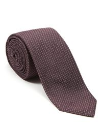 Jigsaw Purple Micro Design Silk Tie for men