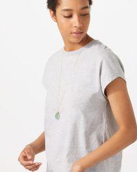 Jigsaw - Metallic Jade Stone Necklace - Lyst