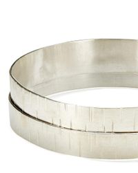 Jigsaw - Metallic Made Hammered Layered Cuff - Lyst