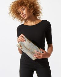 Jigsaw Metallic Alexis Fold Over Clutch