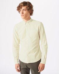 Jigsaw - Natural Garment Dye Oxford Button Down Shirt for Men - Lyst