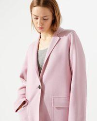 Jigsaw Pink Single Fastening Double Faced Coat