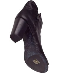 275 Central - Open Toe Ankle Boot Black Leather - Lyst