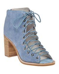 Jeffrey Campbell   Cors Light Blue Suede Lace-up Bootie   Lyst