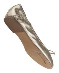 Sam Edelman - Metallic Felicia Ballet Flat Rich Gold Leather - Lyst