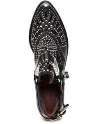 Jeffrey Campbell Calhoun Black Leather Studded Boots