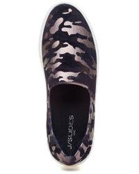 J/Slides Ariana Slip On Sneaker Black Camo Fabric