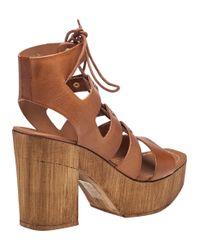 J/Slides - Brown Amelia Cognac Leather Sandal - Lyst