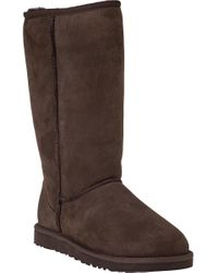 Ugg | Classic Tall Boot Chocolate Brown Suede | Lyst