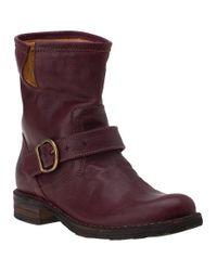 Fiorentini + Baker | Purple Eternity Eli Ankle Boot Plum Leather | Lyst