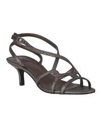 Pelle Moda   Metallic Frantic Evening Sandal Pewter Leather   Lyst