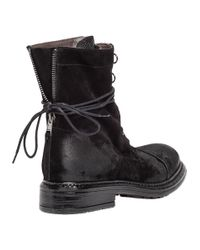 275 Central Black 2185 Distressed Lace-Up Boots