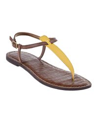 Sam Edelman | Gigi Thong Sandal Citron Yellow Patent | Lyst