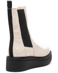 Vagabond Natural Tara Boot Plaster Patent Leather