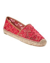 Tory Burch - Lucia Flat Espadrille Natural Leather - Lyst