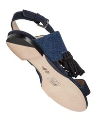 3.1 Phillip Lim - Blue Martini Denim Sandals - Lyst