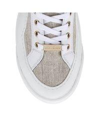 Choo V.B.C Lace Up/F Baskets Lacets En Lin Jimmy Choo en coloris White