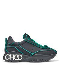 Raine Baskets En Nylon Matelass Noir Avec Des Dtails Verts Foncs Noir/Vert Fonc 34 Jimmy Choo en coloris Green
