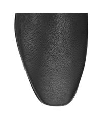 Jimmy Choo Black Glint Flat Patent Leather Slip-on Shoes