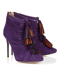 Jimmy Choo - Purple Kassidy Cutout Ankle Boots - Lyst