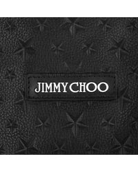 Jimmy Choo - Pimlico Black Grainy Leather Tote Bag With Embossed Stars for Men - Lyst