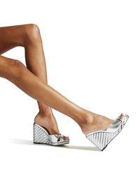 Almer 105 Chaussures Compenses En Cuir Nappa Argent Mtallis Dtails D'toffe Tisse Mtallise Argent 34 Jimmy Choo en coloris Metallic