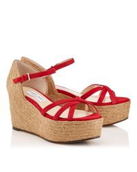 Jimmy Choo Red Delaney 80
