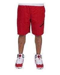 136758f09b68fd Lyst - Nike Jumpman Air Fleece Shorts in Red for Men