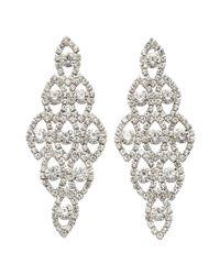 Joe Fresh - White Crystal Chandelier Earrings - Lyst