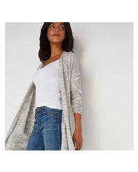 Joe Fresh - Gray Spacedye Cardi - Lyst