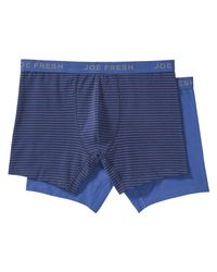Joe Fresh - Blue Men's 2 Pack Essential Boxer Briefs for Men - Lyst
