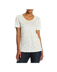 Joe Fresh - White Print Linen Tee - Lyst