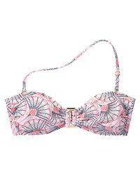 Joe Fresh - Pink Print Buckle Bandeau Bikini Top - Lyst