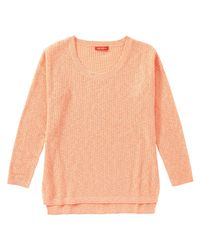 Joe Fresh - Orange Knit High-low Hem Sweater - Lyst