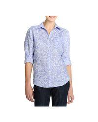 Joe Fresh - Blue Print Linen Shirt - Lyst