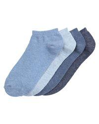 Joe Fresh Blue 4 Pack Sport Socks for men
