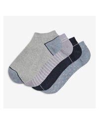 Joe Fresh Purple 4 Pack Print Socks