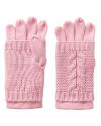 Joe Fresh - Pink Cable Knit Gloves - Lyst