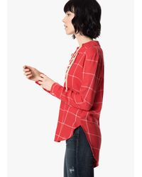 Joe's Jeans Red Natali Lace-up Shirt