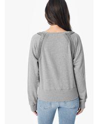 Joe's Jeans - Gray Sheena Sweatshirt - Lyst