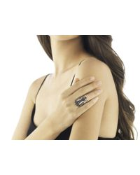 John Hardy - Red Naga Head Ring, Black Sapphire And White Sapphire - Lyst